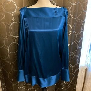 Banana Republic Blue Silk Blouse NWT